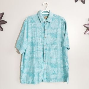 Other - Caribbean Button Down Silk Large